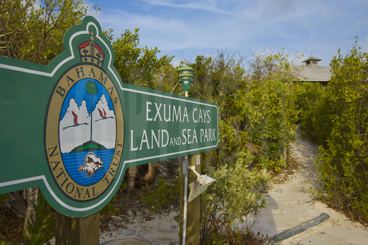 Exumas Islands : Sur Warderick Wells Cay, siège du