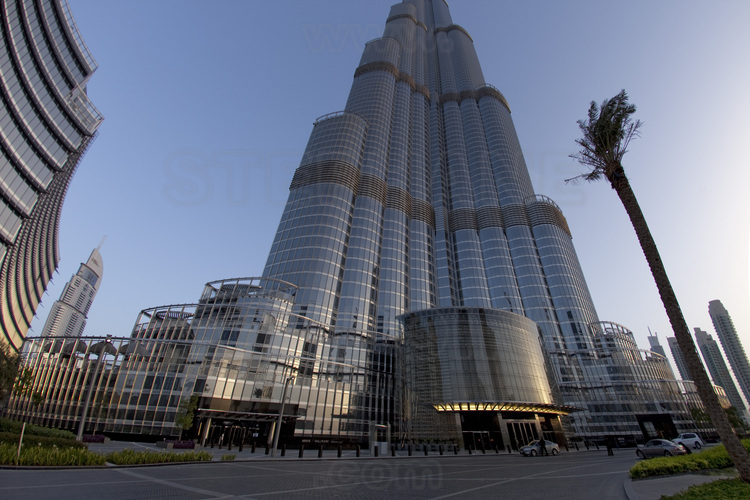 Northeast of the burj khalifa highest in the world with for Burj al khalifa hotel