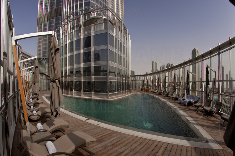 Inside the burj khalifa highest in the world with 828 - Tallest swimming pool in the world ...