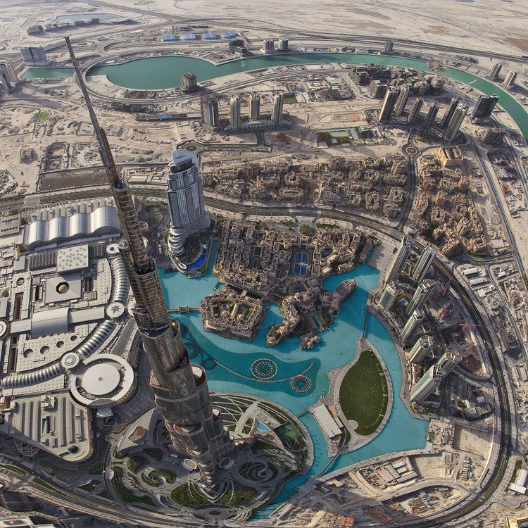 Aerial view over burj khalifa tallest tower in the world with 828 aerial view over burj khalifa tallest tower in the world with 828 meters and gumiabroncs Image collections