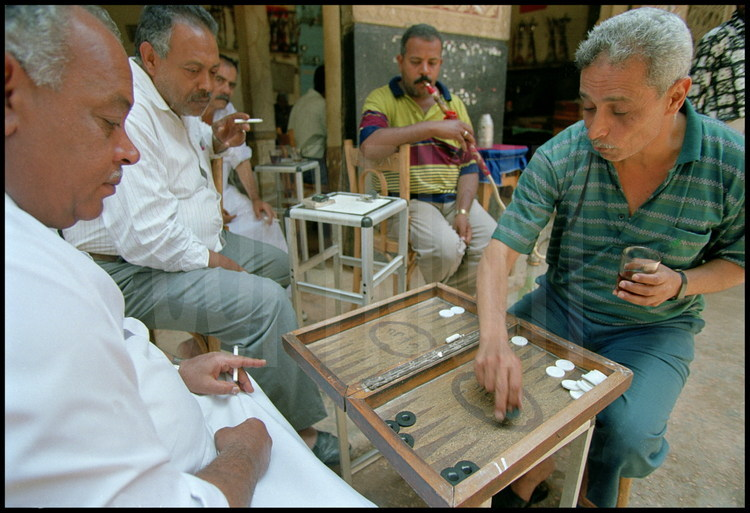 "While the women often remain at home, men meet in the city's cafes where they can enjoy their favorite pastimes: dominos, backgammon and narguilé, commonly called ""chicha""."