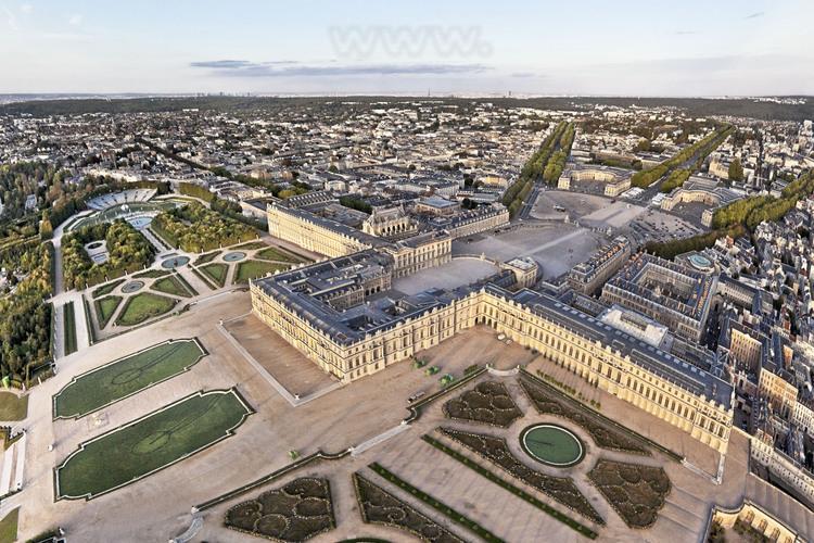 Vue Du Parc Et Des Jardins Proches Du Chateau Depuis Le Sud Ouest