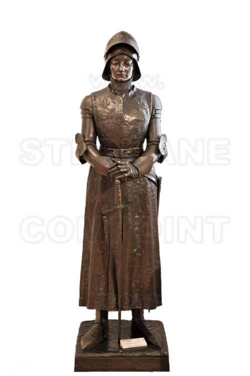 Vaucouleurs, where Joan of Arc left from 22 February 1429 to go to Chinon. In the City Museum, statue of