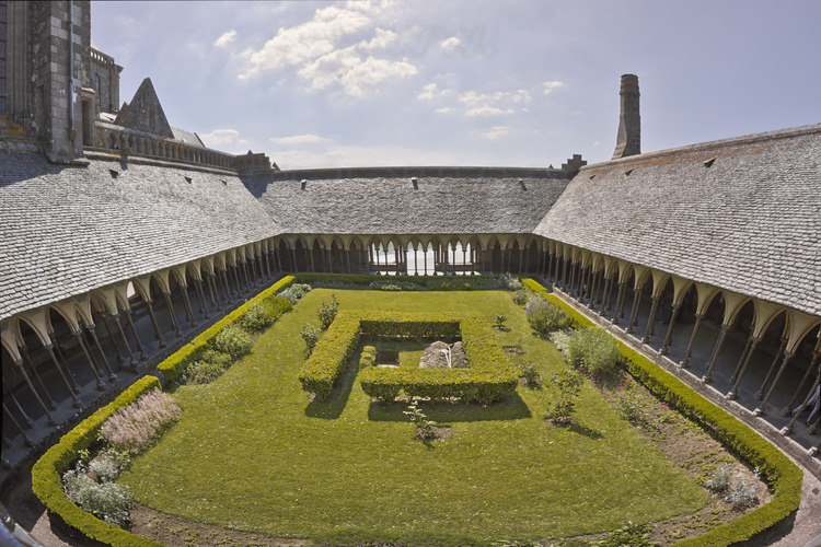 The cloister seen from the east.